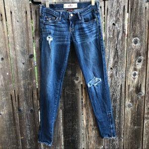 Hollister skinny ankle zipper jeans
